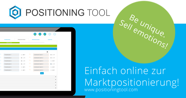 Online Tool zu Positionierung und Strategie als Ausgangspunkt für Marketing, Vertrieb und Business Development - POSITIONING TOOL ein Service von Markenpuls® Management